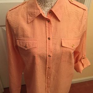 MICHAEL KORS M Coral/Gold Blouse